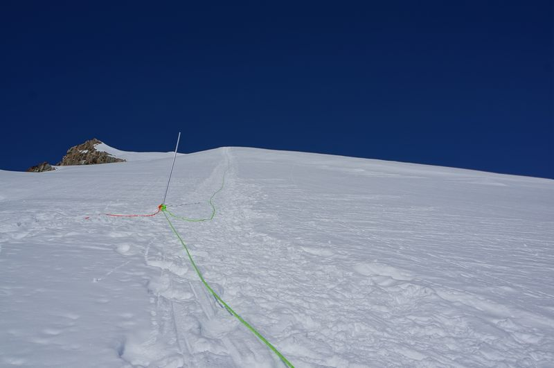 Training day on Vinson with fixed line