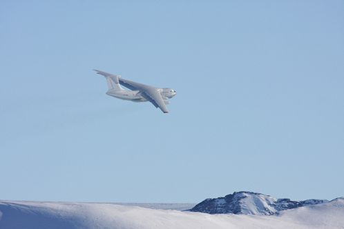Flight leaving Antarctica for Punta Arenas, Chile