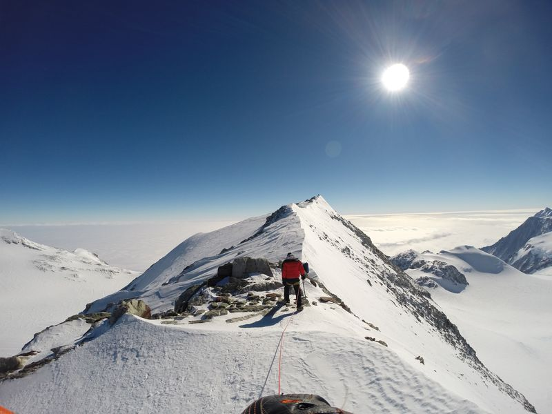 Summit Ridge, Vinson Massif, Antarctica