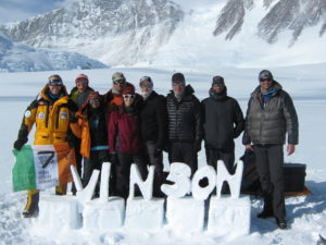 Climbing Team at Vinson Base Camp, Antarctica