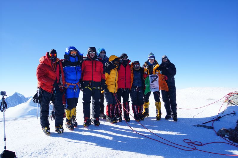 Team on Top of Vinson Massif, Antarctica