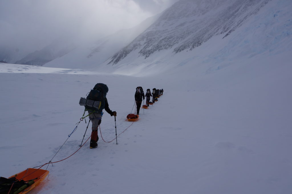 Carrying our Gear to Vinson Low Camp