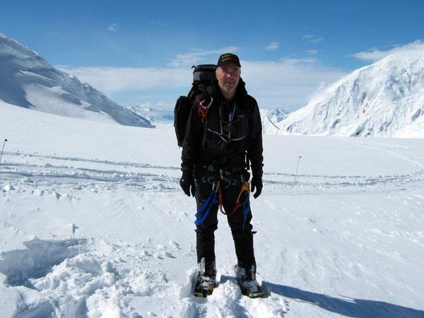 Jim Geiger, climbing Denali
