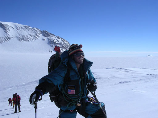 At High Camp climbing Vinson in Antarctica